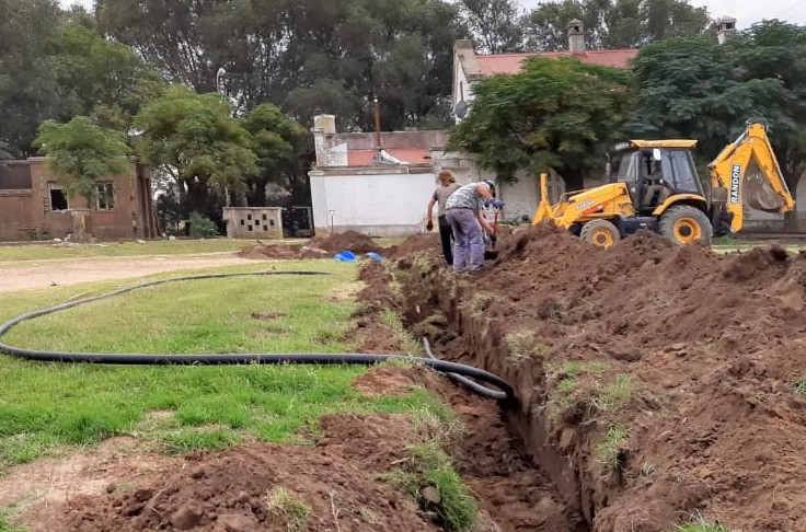 Agua potable para Sarah: obra en la etapa final